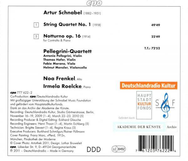 Artur Schnabel - Notturno - cpo / Deutschlandradio Kultur